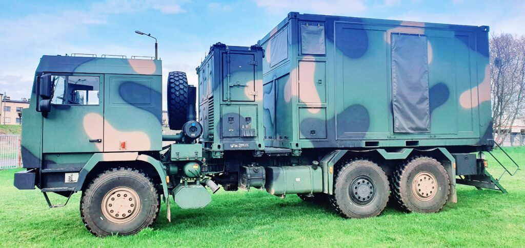 Mobile module of the command post