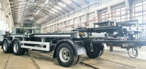 24t trailer for transporting containers