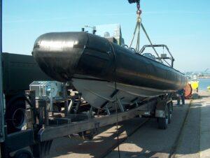 Trailer for boats transportation PŁ-2-6,5 type